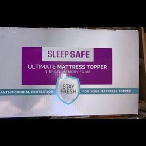 Sleep Safe Ultimate Memory Foam Mattress Topper